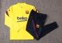 Детский тренировочный спортивный костюм Барселоны 2020/2021 желтый 4
