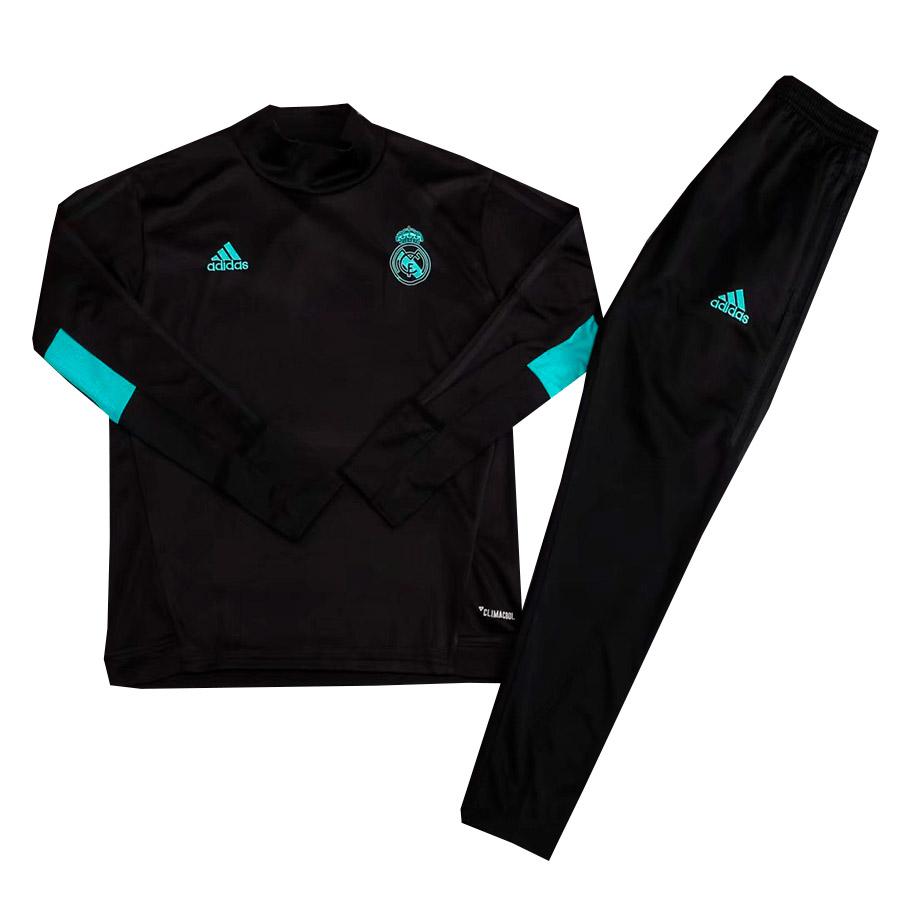 Детский тренировочный спортивный костюм Реал Мадрид 2017 2018 черный ... 7e70b1a0d63d8