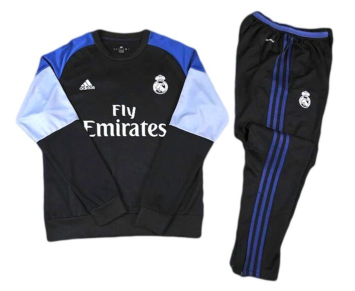 Тренировочный спортивный костюм Реал Мадрид 2016 2017 черный купить ... 1338e5ad53817