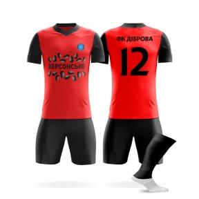Футбольная форма на заказ ФК Диброва красная