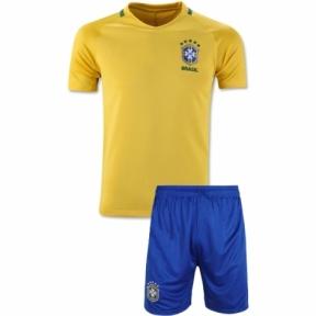 Футбольная форма сборной Бразилии Чемпионат Мира 2018 желтая