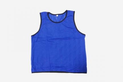 Футбольная манишка для тренировок синяя (105)