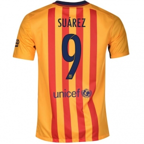 Футболка Barcelona away stadium 2015/16 SUAREZ 9
