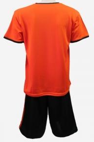Футбольная форма Playfootball (KS-orange-black)