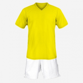 Футбольная форма Playfootball (yellow-white-1)