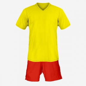 Футбольная форма Playfootball (yellow-red-1)