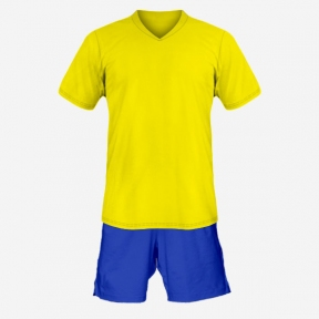 Футбольная форма Playfootball (yellow-blue-1)