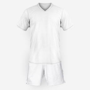 Футбольная форма Playfootball (white-white)