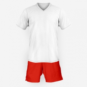 Футбольная форма Playfootball (white-red-1)