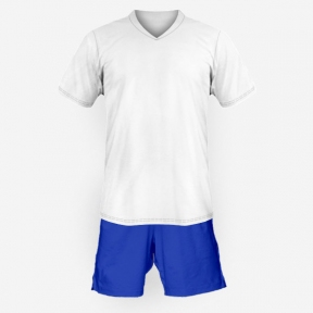Футбольная форма Playfootball (white-blue-1)