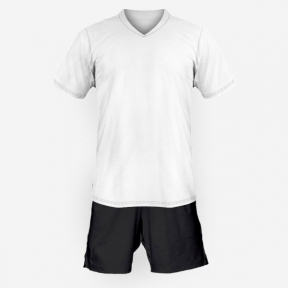 Футбольная форма Playfootball (white-black-1)