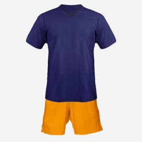 Футбольная форма Playfootball (dark-blue-orange)