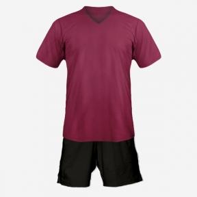 Футбольная форма Playfootball (dark-red-black)
