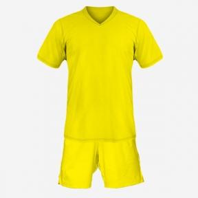 Детская футбольная форма Playfootball (yellow-yellow)
