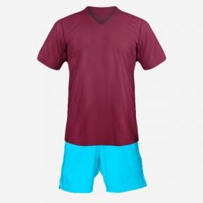 Футбольная форма Playfootball (dark-red-blue)