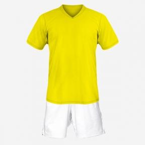 Детская футбольная форма Playfootball (yellow-white)