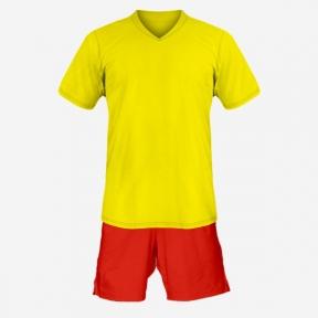 Детская футбольная форма Playfootball (yellow-red)