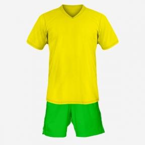 Детская футбольная форма Playfootball (yellow-green)