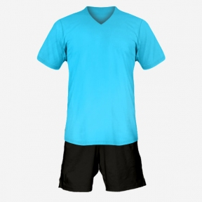 Футбольная форма Playfootball (lightblue-black)