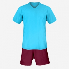 Футбольная форма Playfootball (lightblue-darkred)