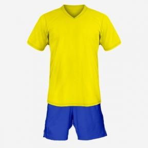 Детская футбольная форма Playfootball (yellow-blue)