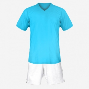 Футбольная форма Playfootball (lightblue-white)