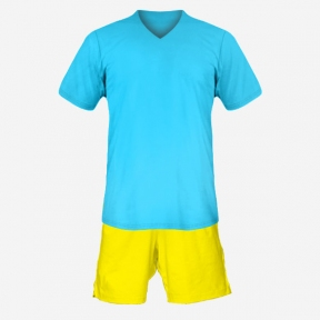 Футбольная форма Playfootball (lightblue-yellow)