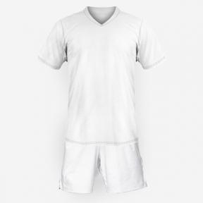 Детская футбольная форма Playfootball (white-white)