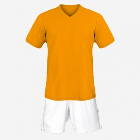 Футбольная форма Playfootball (orange-white)