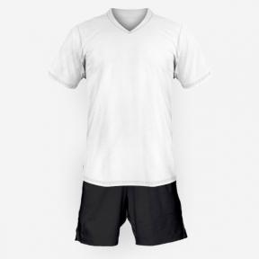 Детская футбольная форма Playfootball (white-black)