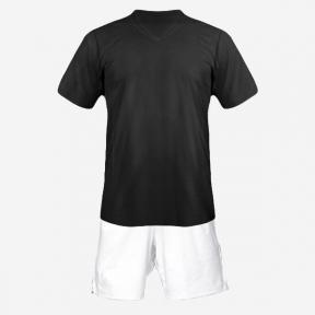 Детская футбольная форма Playfootball (black-white)