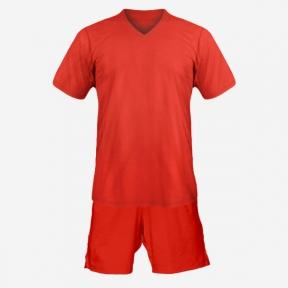 Детская футбольная форма Playfootball (red-red)
