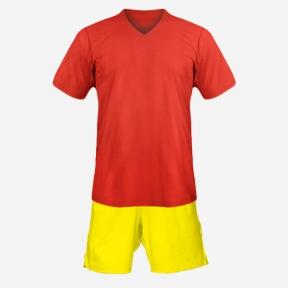 Детская футбольная форма Playfootball (red-yellow)