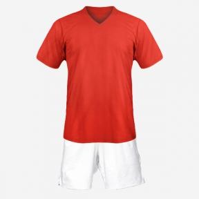 Детская футбольная форма Playfootball (red-white)