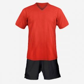 Детская футбольная форма Playfootball (red-black)