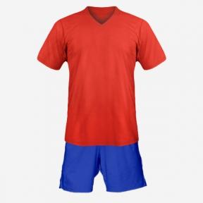 Детская футбольная форма Playfootball (red-blue)
