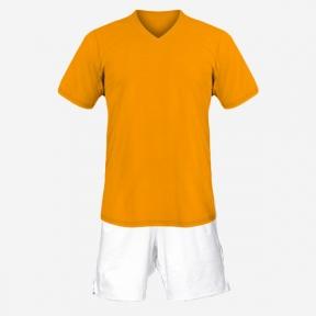 Детская футбольная форма Playfootball (orange-white)