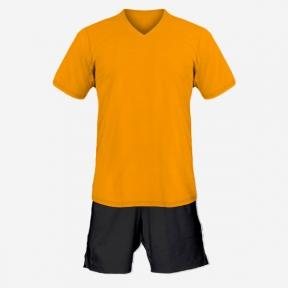 Детская футбольная форма Playfootball (orange-black)
