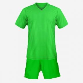 Детская футбольная форма Playfootball (green-green)