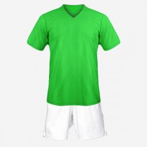 Детская футбольная форма Playfootball (green-white)