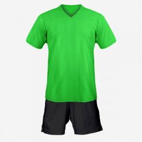 Детская футбольная форма Playfootball (green-black)