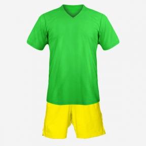 Детская футбольная форма Playfootball (green-yellow)