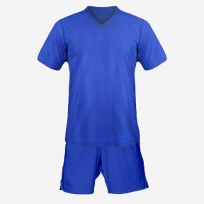 Детская футбольная форма Playfootball (blue-blue)