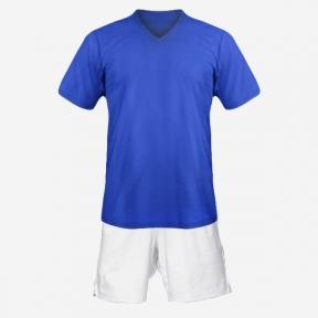 Детская футбольная форма Playfootball (blue-white)