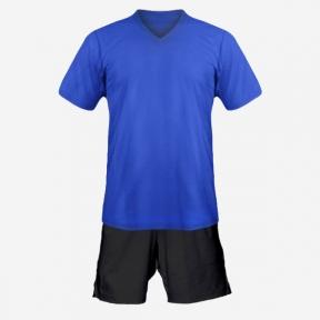 Детская футбольная форма Playfootball (blue-black)