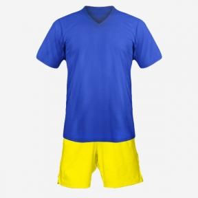 Детская футбольная форма Playfootball (blue-yellow)