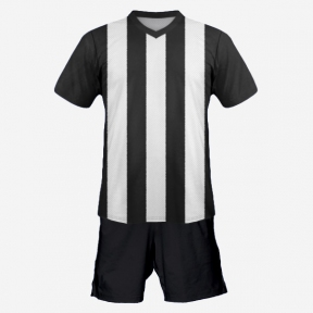Футбольная форма Playfootball (black-white)
