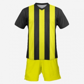 Футбольная форма Playfootball (black-yellow-2)