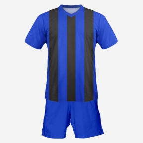 Футбольная форма Playfootball (blue-black)