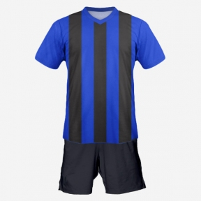 Футбольная форма Playfootball (blue-black-2)